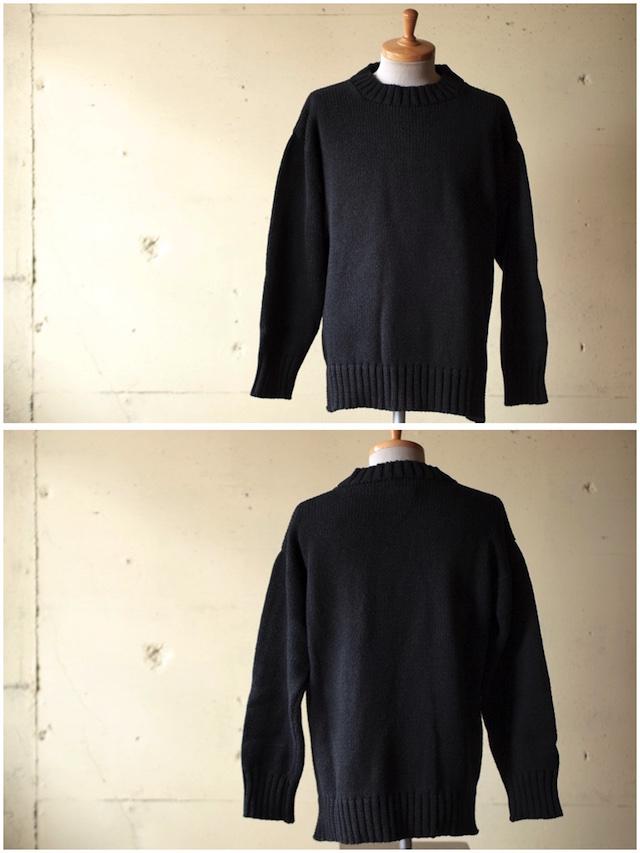Deck Hand Indigo Cotton Crew Neck Sweater Black Indigo-2