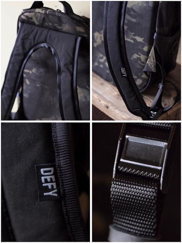 DFY BAGS Bucktown Pack Black Camo Corudra-5