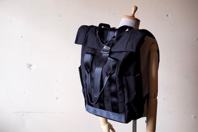 DEFY BAGS VerBockel Rolltop Pack, Black Cordura-2