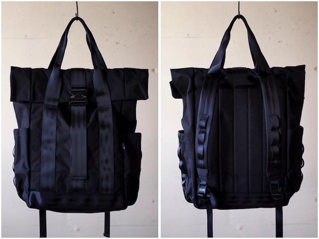DEFY BAGS VerBockel Rolltop Pack, Black Cordura-3