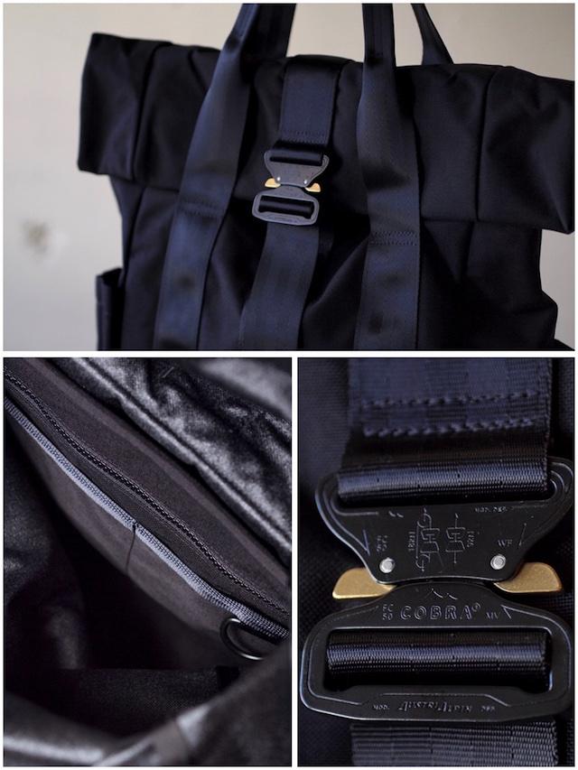 DEFY BAGS VerBockel Rolltop Pack, Black Cordura-5