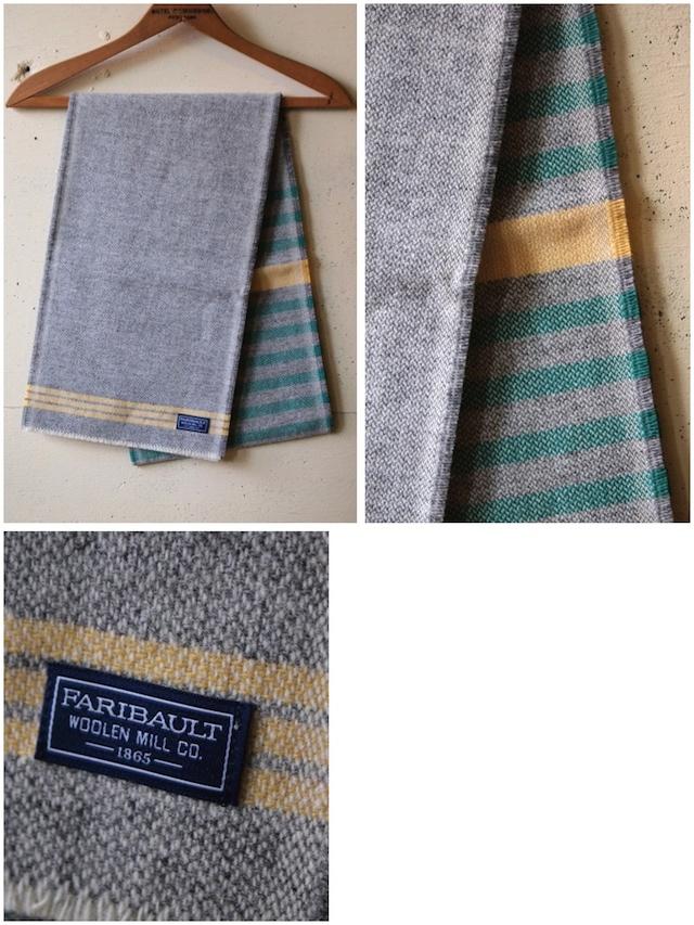 FARIBAULT Mid Stripe Scarf, Green-2