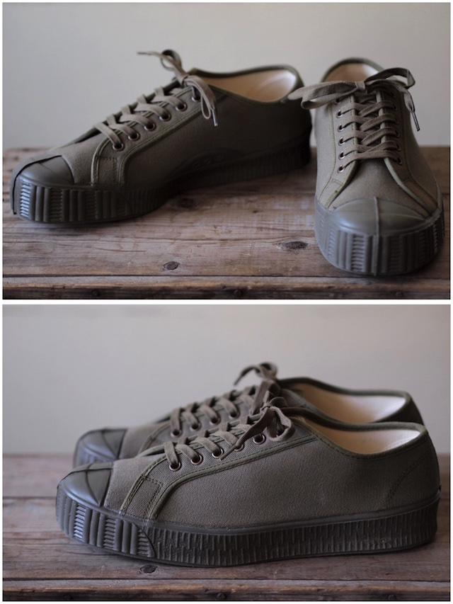 FERN Canvas Sneaker Army Type Low Cut Military Olive-2