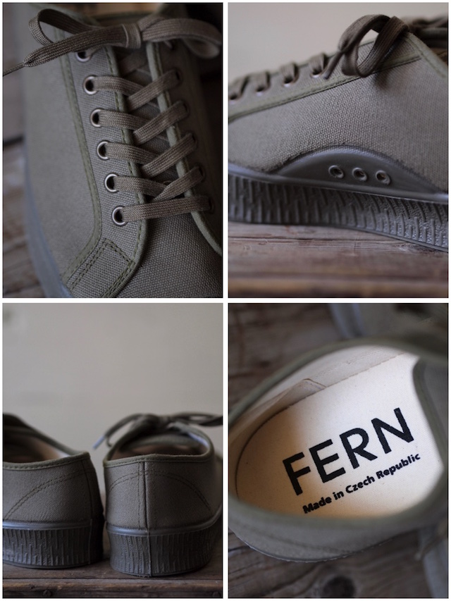 FERN Canvas Sneaker Army Type Low Cut Military Olive-3
