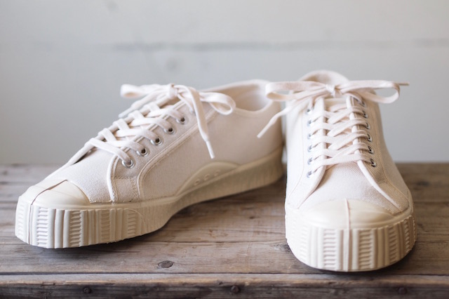 FERN Canvas Sneaker Army Type Low Cut Natural-2