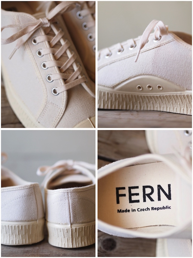 FERN Canvas Sneaker Army Type Low Cut Natural-4