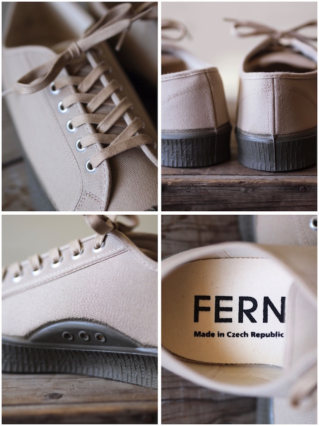 FERN Canvas Sneaker Army Type Low Cut SAND-4