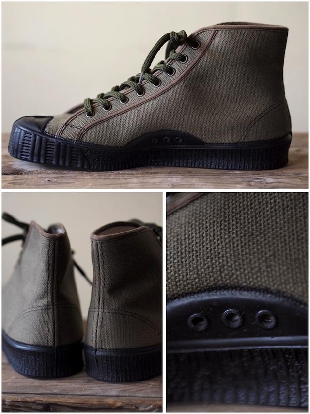 FERN Sneaker Army Model HC, Dark Olive-4