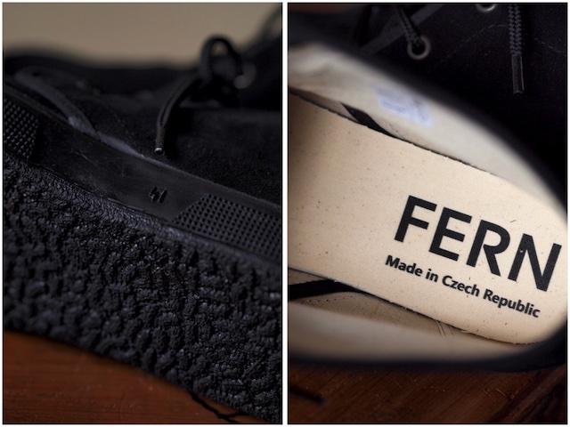 FERN Sneaker Chukka Model Suede, Nero-4