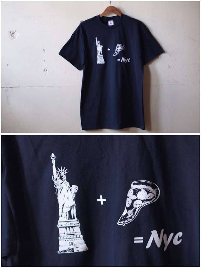 GMT (General Mean T-Shirts) PIZZA NY Navy-2