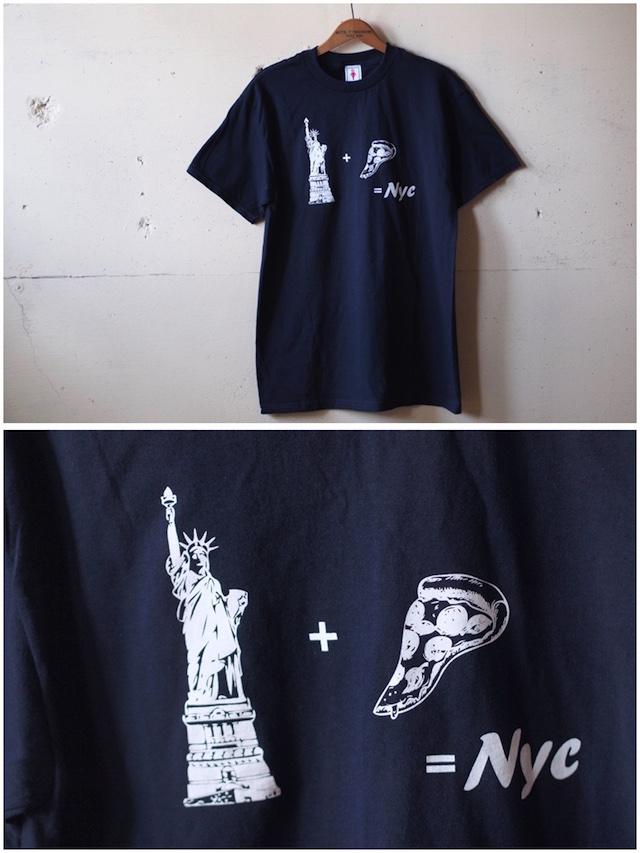 GMT (General Mean T-Shirts) PIZZA NY Navy-2