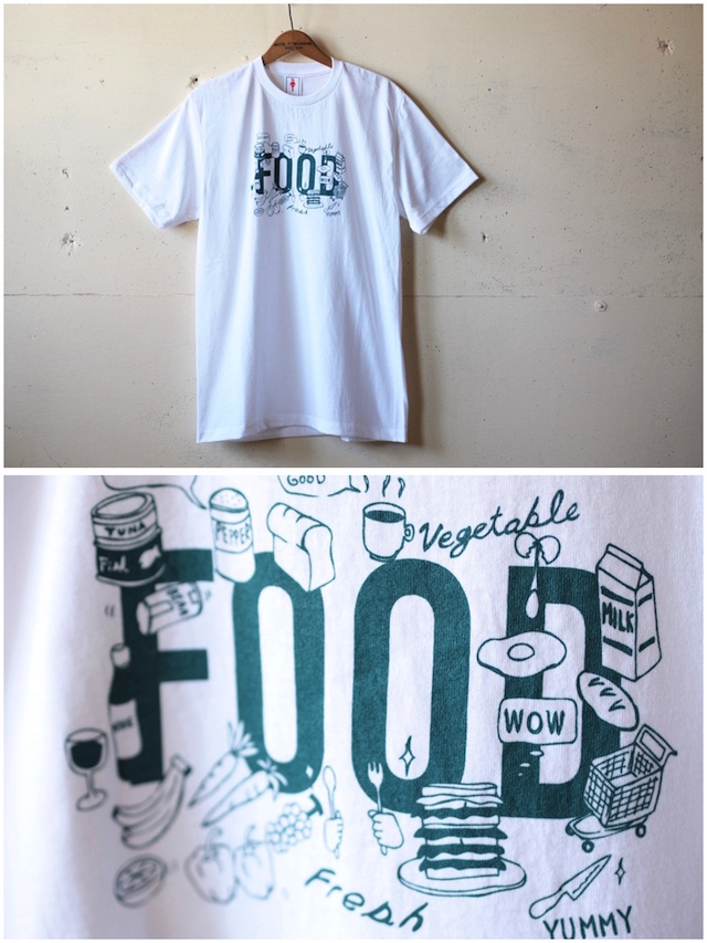 GMT Printed T-Shirt FOOD, White-2