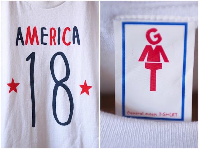 GMT Printed Tee America 18 White-3