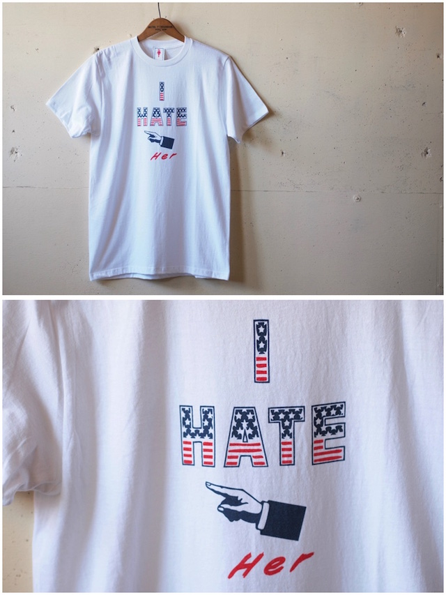 GMT Printed Tee I Hate Her White-2