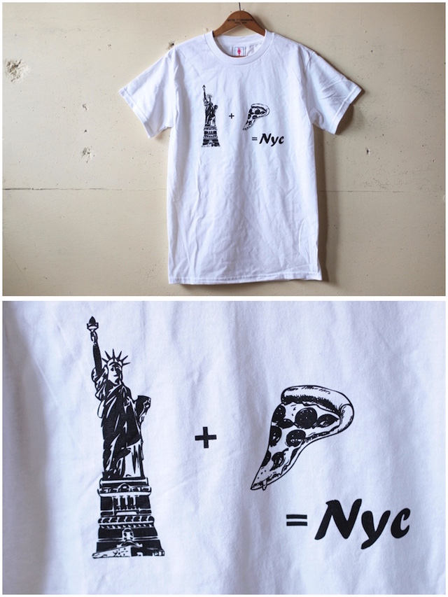 GMT (General Mean T-Shirts) PIZZA NY White-2