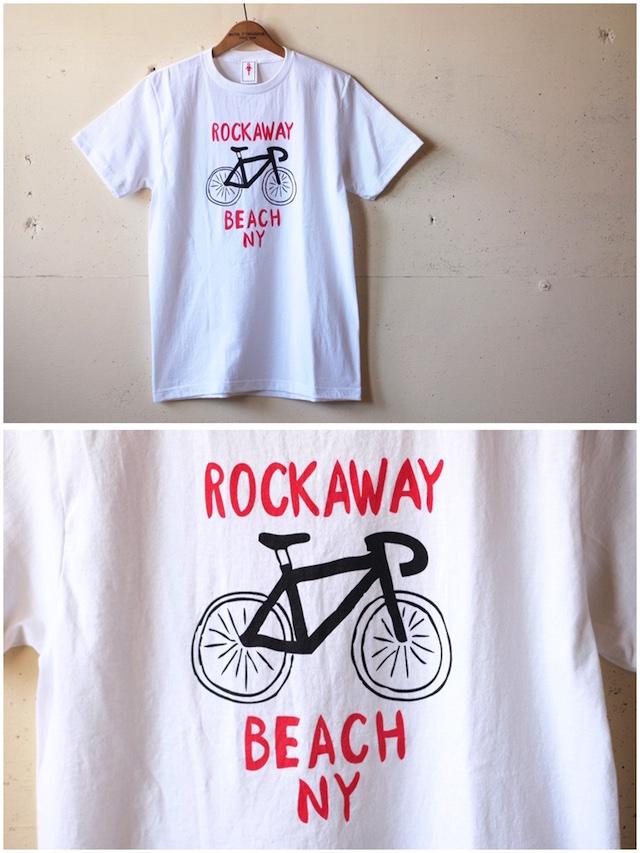 GMT Printed T-Shirt Rockaway Beach NY, White-2
