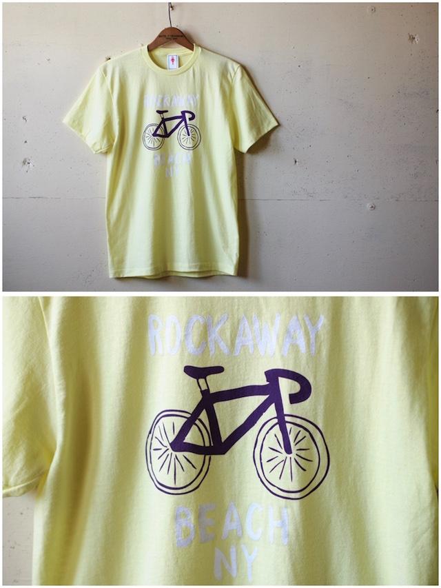 GMT Printed T-Shirt Rockaway Beach NY, Yellow-2