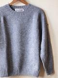 Harley of Scotland Shetland Sweater Grey-Link