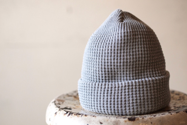 ISLAND KNIT WORKS, Andy Cotton knit Cap / IKW-A-53-Grey