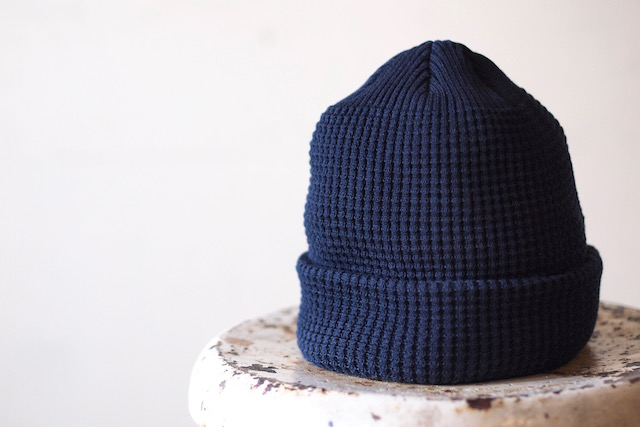 ISLAND KNIT WORKS, Andy Cotton knit Cap / IKW-A-53-Navy