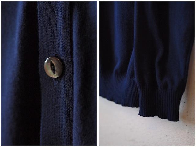 Island Knit Works-Cotton Knit Cardigan, Navy-5