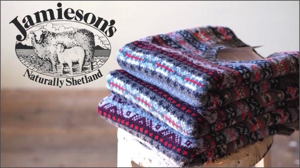 Jamieson's (ジャミーソンズ) Fair Isle V Neck Knit Vest-Top