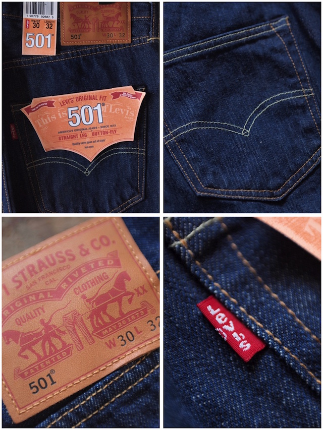 Levi's (リーバイス) 501 Rinse White Oak Denim Made in USA-7