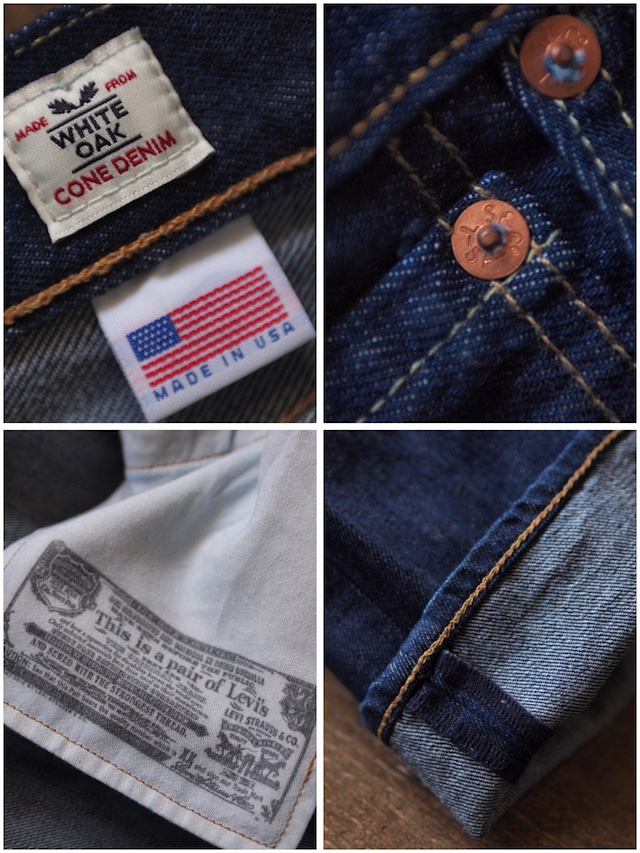 Levi's (リーバイス) 501 Rinse White Oak Denim Made in USA-8