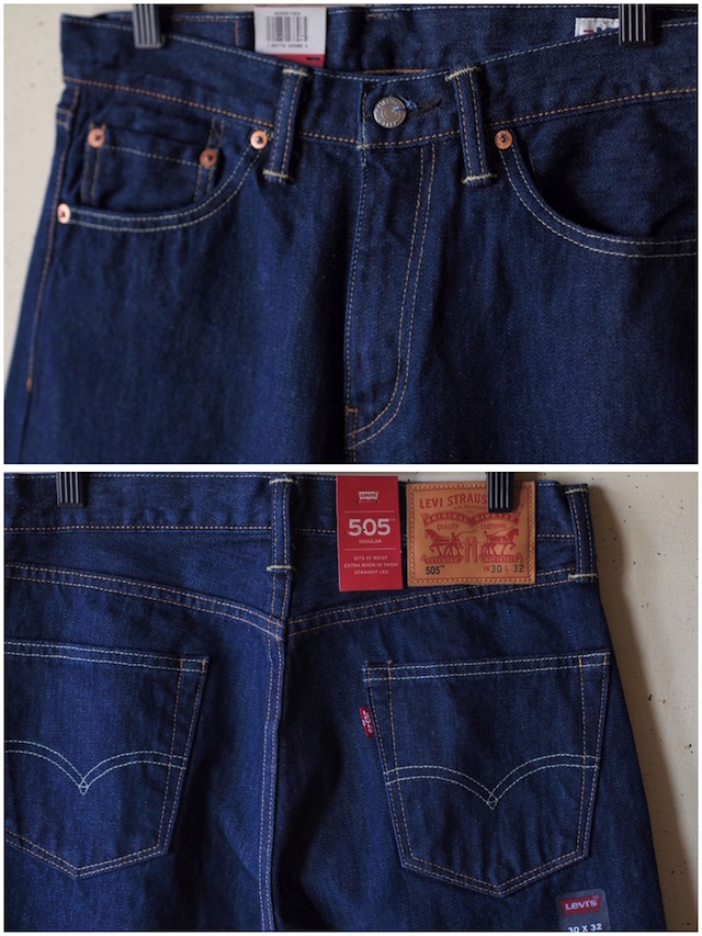 Levi's (リーバイス) 505 Rinse White Oak Denim Made in USA-5