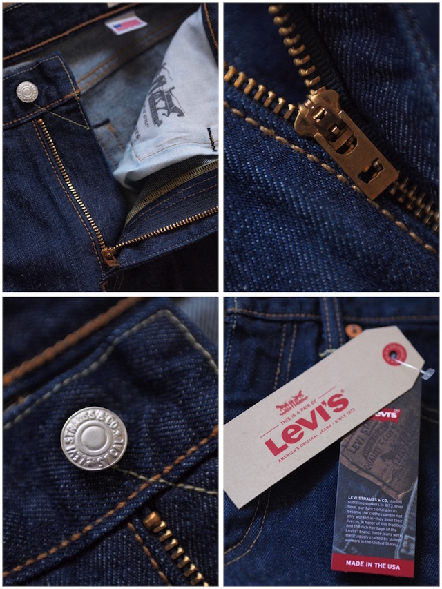Levi's (リーバイス) 505 Rinse White Oak Denim Made in USA-6