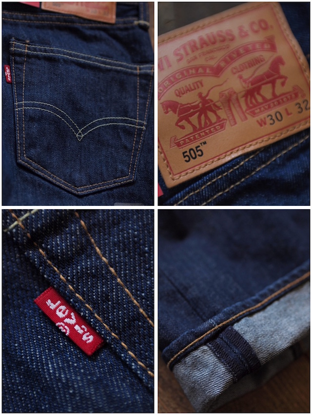 Levi's (リーバイス) 505 Rinse White Oak Denim Made in USA-7