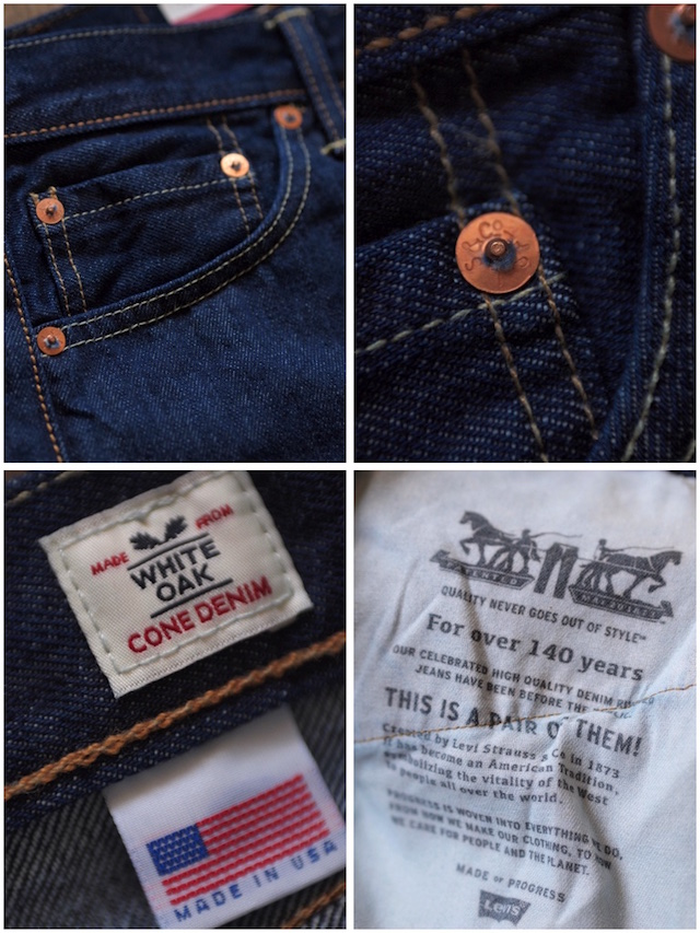 Levi's (リーバイス) 505 Rinse White Oak Denim Made in USA-8