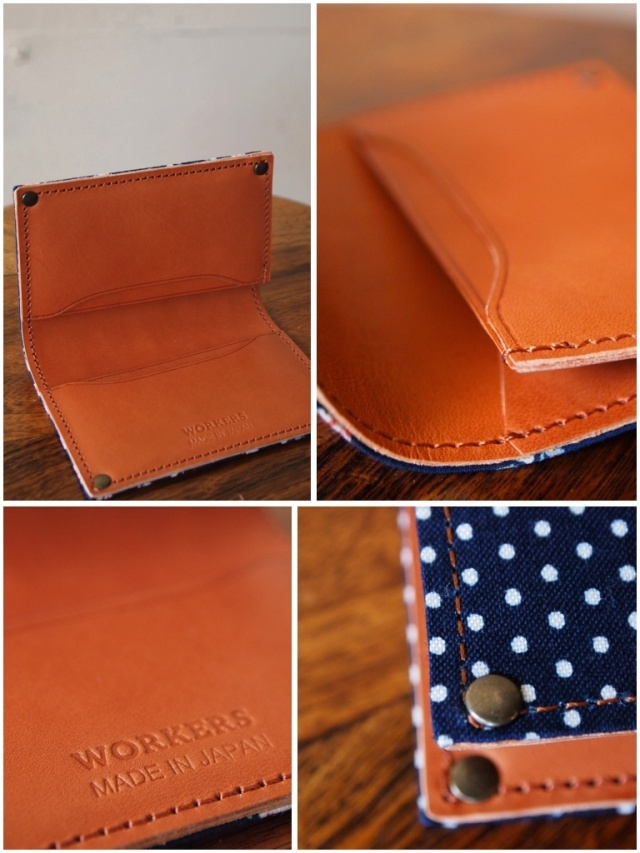 WORKERS Card Case, Polka / Floral-2