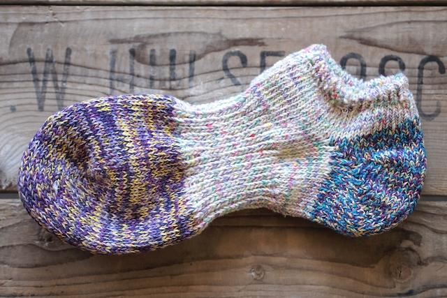 Mauna Kea Twister Sneaker Sox-Purple