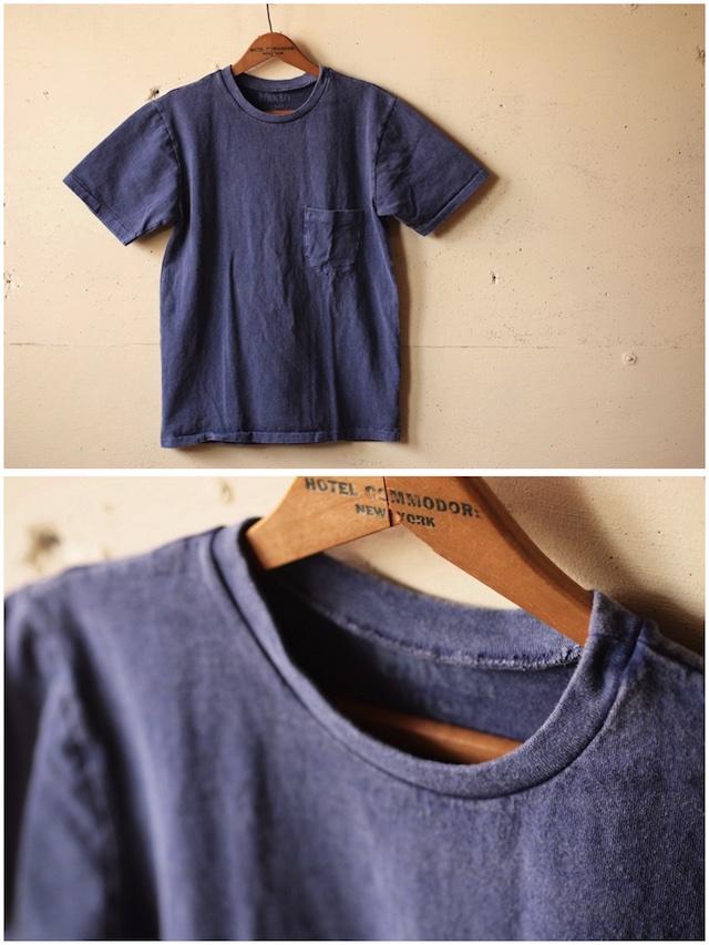 Mixta (ミクスタ) Crew Neck Pocket T-Shirt, Night Ocean-2