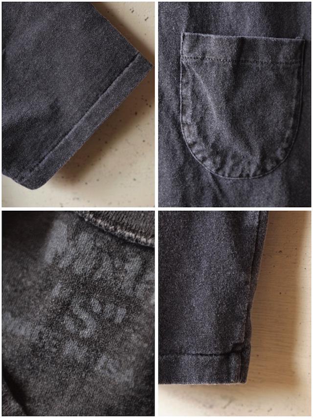 Mixta (ミクスタ) Crew Neck Pocket T-Shirt, Vintage Black-3