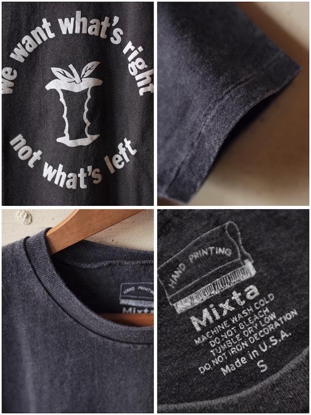 MIXTA(ミクスタ)Printed Tee APPLE Vintage Black-3
