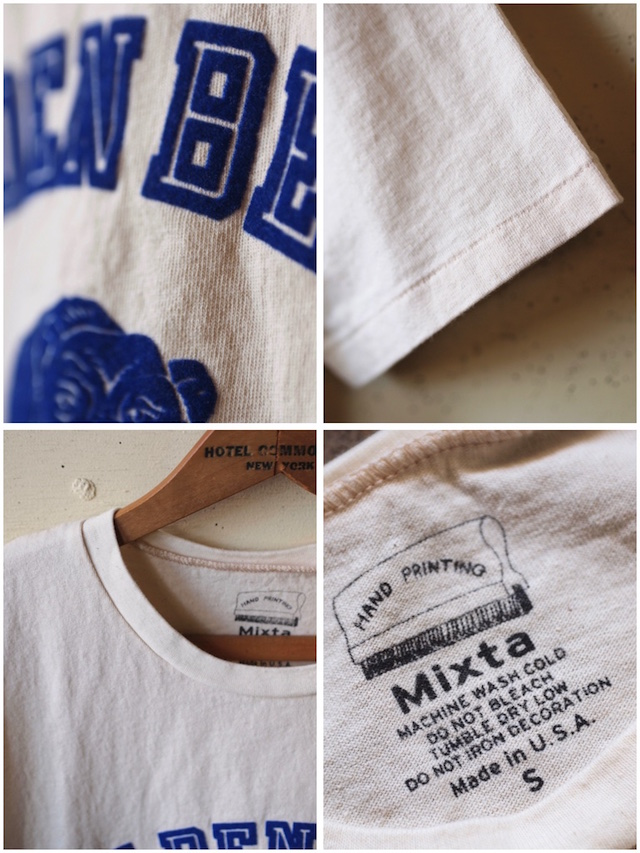 MIXTA(ミクスタ)Printed Tee Golden Bear Natural-3