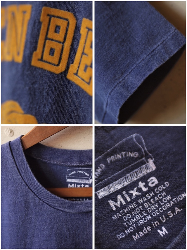 MIXTA(ミクスタ)Printed Tee Golden Bear Night Ocean-3