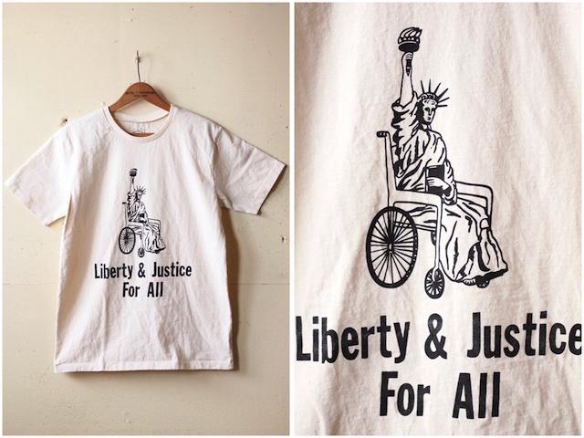Mixta Printed Tee Liberty & Justice Natural-2