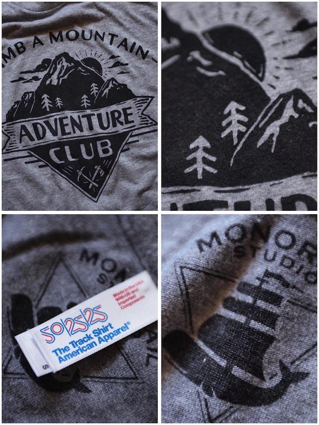 Monorail Studio T-Shirt Adventure Club Athletic Grey-3