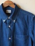 WORKERS Denim BD Shirt, Blue Washed-Link