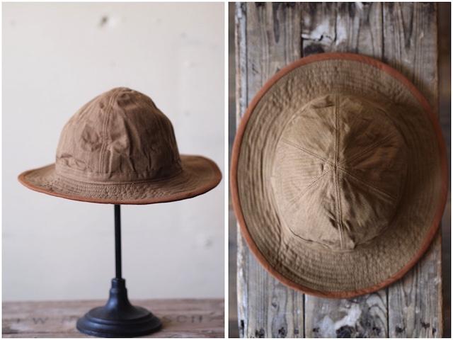 TCB jeans 30's Hat (US.Army Hat) Brown Herringbone-2