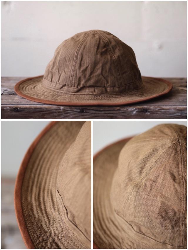 TCB jeans 30's Hat (US.Army Hat) Brown Herringbone-3