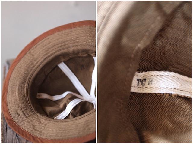 TCB jeans 30's Hat (US.Army Hat) Brown Herringbone-4