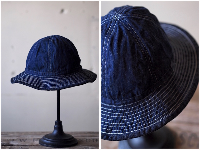 TCB jeans 30's Hat (US.Army Hat) Denim-2