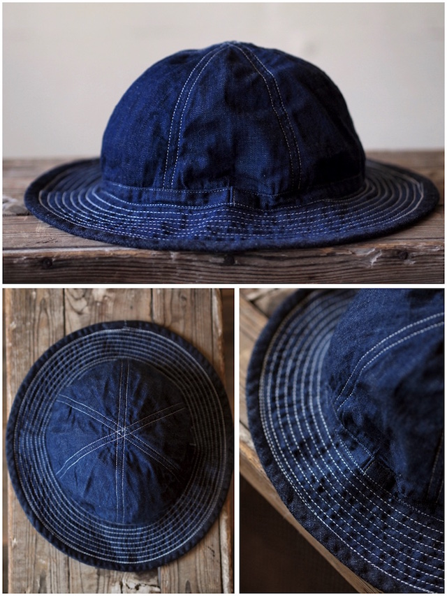 TCB jeans 30's Hat (US.Army Hat) Denim-3