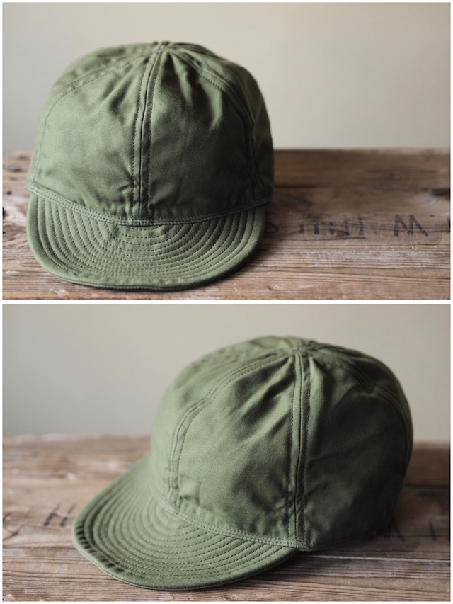 TCB jeans 40's Cap Back Sateen Olive / Army Air Force Mechanicman Cap-2