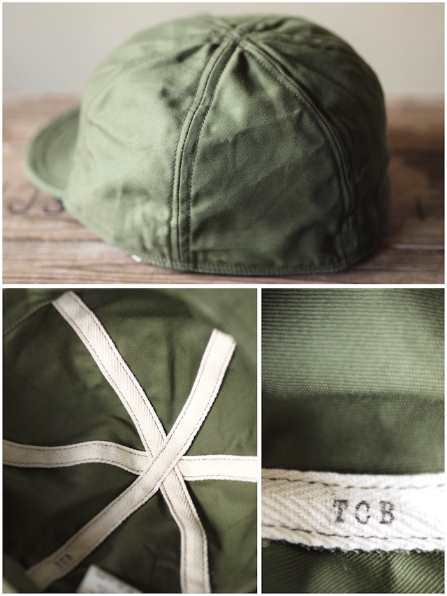 TCB jeans 40's Cap Back Sateen Olive / Army Air Force Mechanicman Cap-4