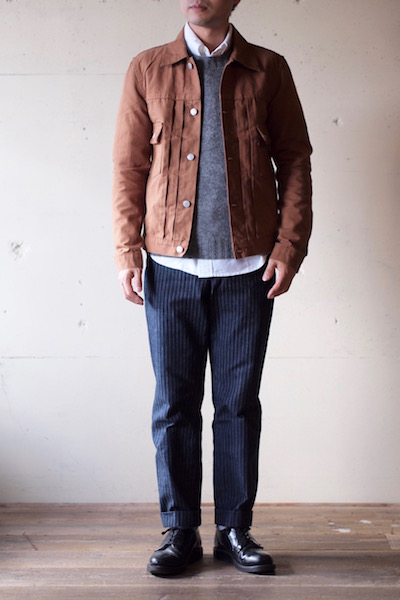 TCBjeans 50's JKT Zimbabwe Brown Duck-3